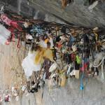 Manarola, Italy -- Tokens of love on the Via dell'Amore in Cinque Terre