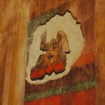 Rome, Italy -- A piece of a fresco in the Casa Augustus in the Roman Forum