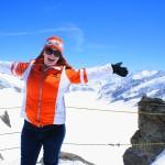 Jungfraujoch, Switzerland -- Me, among the Swiss Alps
