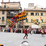 Cortona, Italy -- Traditional flag presentation in Cortona