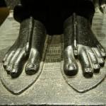 Torino, Italy -- Ramses II's feet at the Egyptian exhibit in Turin