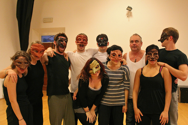 MFA Cohort in their masks with Torbjorn