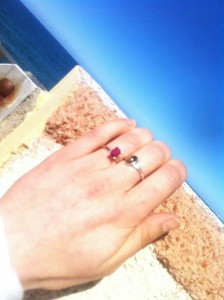 Engaged on the way to Sicily!  Congratulations, Elizabeth!