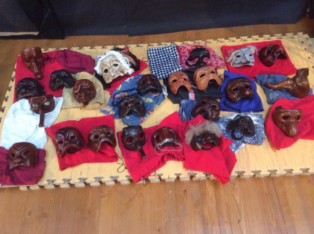 Commedia Masks, Leather
