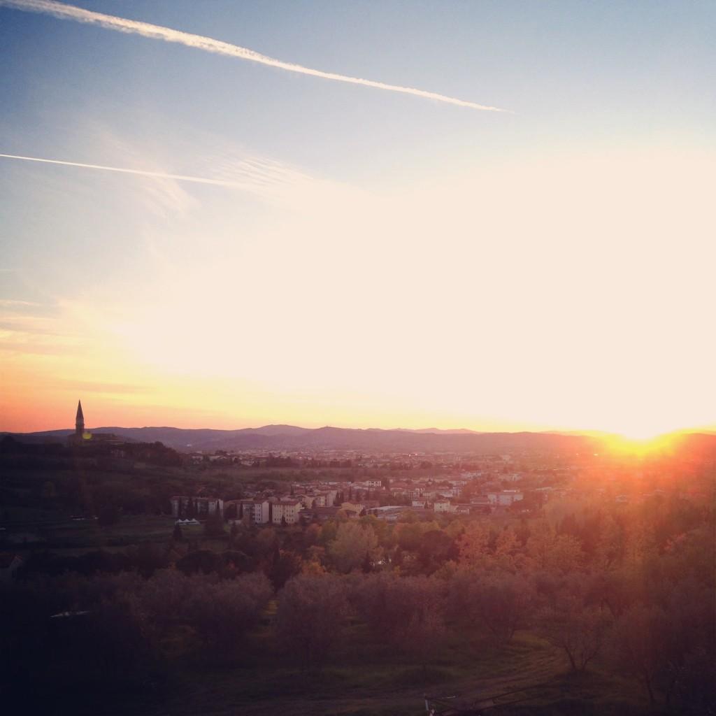 Arezzo sunset