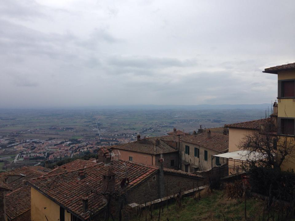 A view from Cortona-- beautiful even on a dreary day!