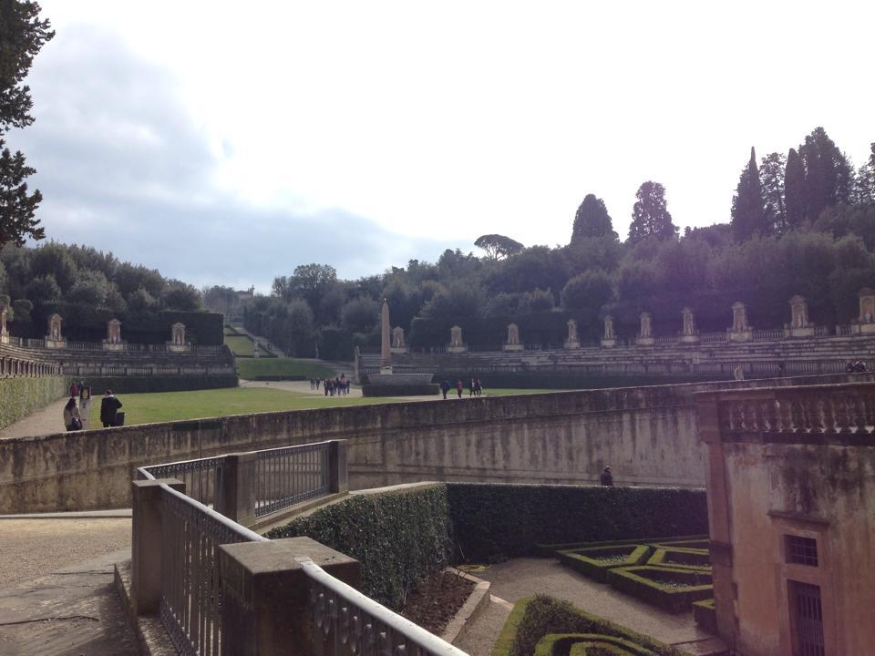 A vista point in the Boboli Gardens