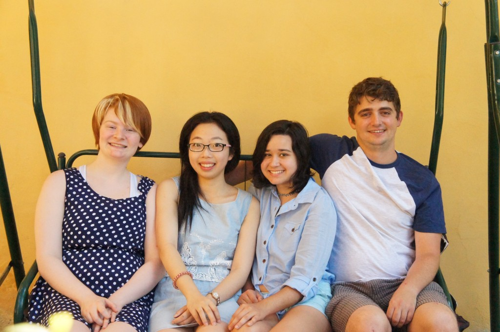 Pictured, from left: Katie, Yi, Reyna, Jason Photo Credit: Lexi Adams
