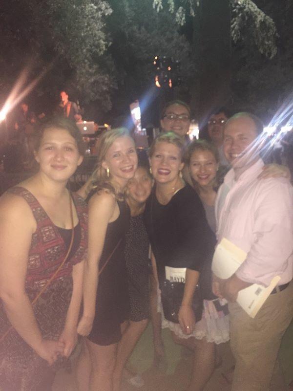 Pictured from left: Mackenzie Crim, Caroline Owen, Kerby Baier, Lilla Keith, Sandy Sharis, Lattie Reddoch, Jonathan Painter, Sully Hart