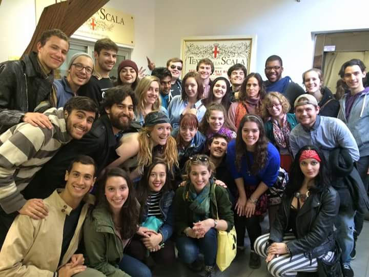 Pictured: Physical Theatre students during their previous trip to Milano