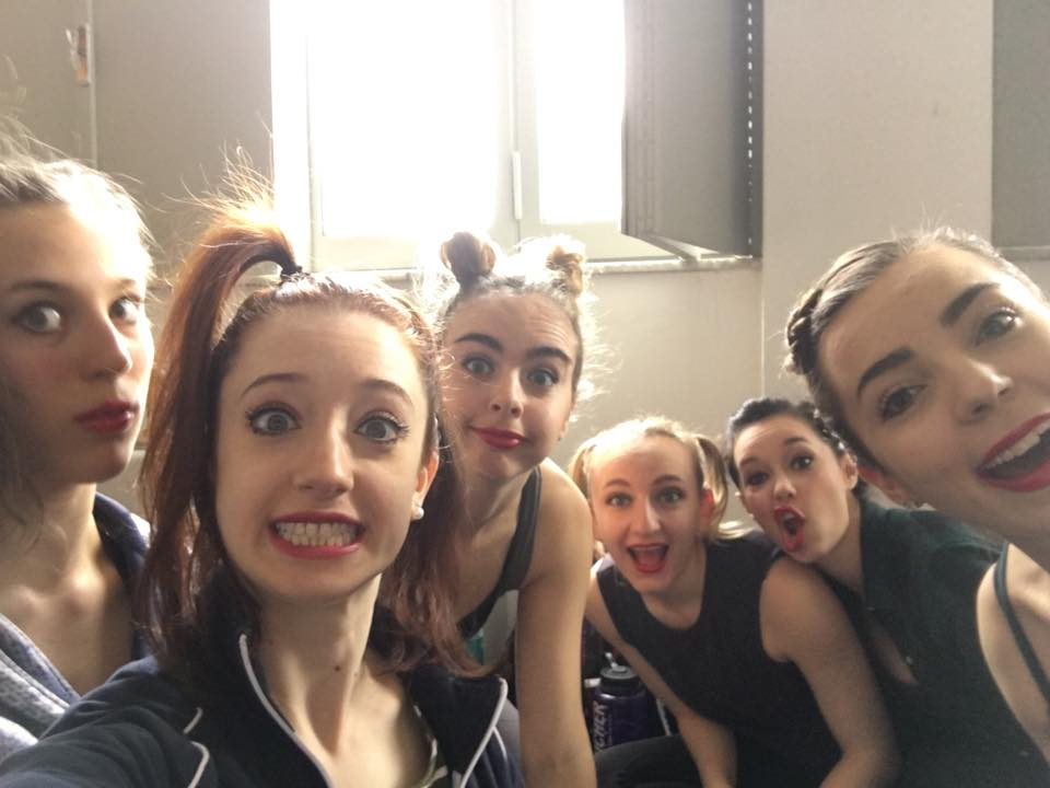 Pictured from left: Olivia Wood, Maia Potok-Holmes, Carly Haig, Julia Krawczyk, Annie Corrao, Leah Krokowski