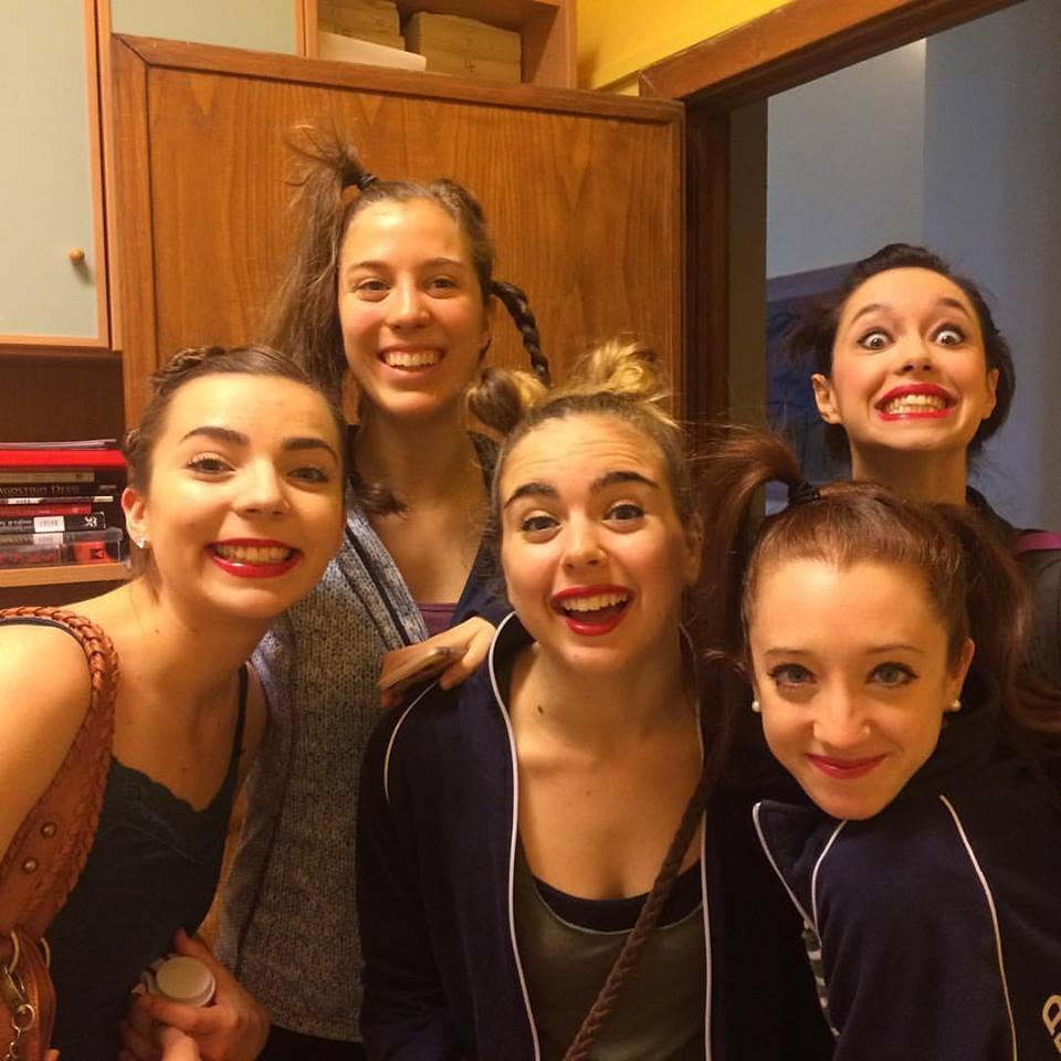 Pictured from left: Leah Krokowski, Olivia Wood, Carly Haig, Maia Potok-Holmes, Annie Corrao