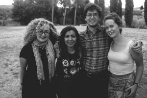 Erica, Carl, Vanessa and I during last summer's art program.