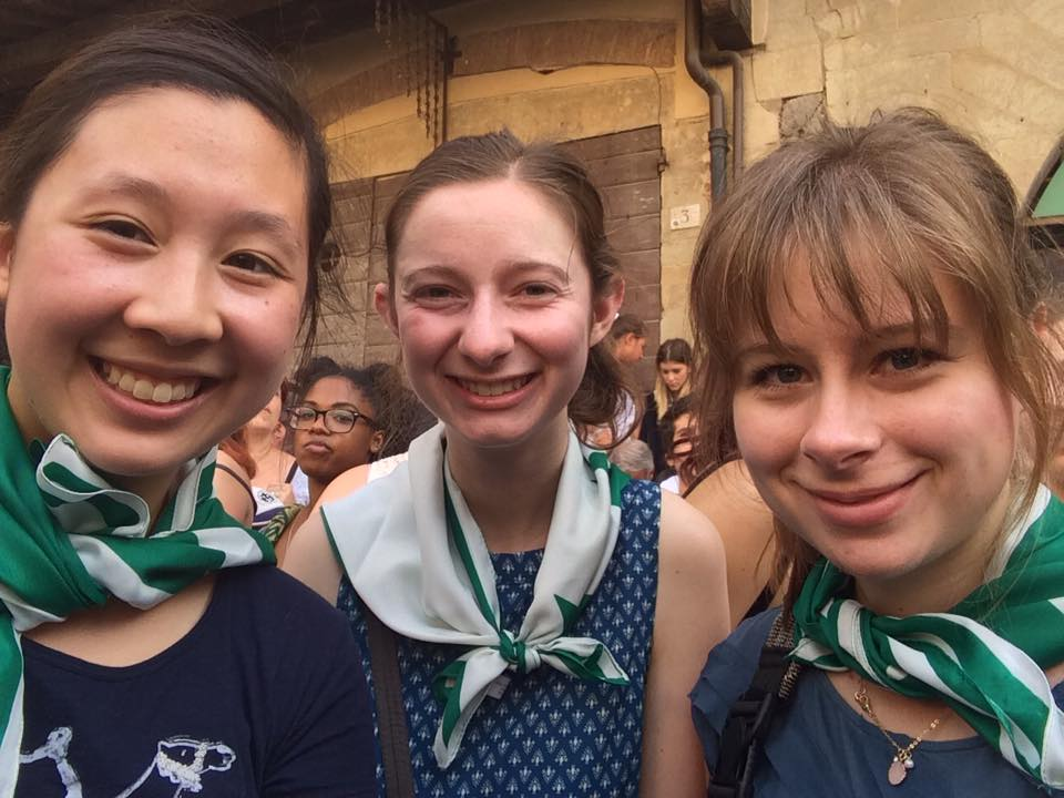 Pictured from left: Tiffany Wei, Courtney Gale, AnneKatherine Stiekes