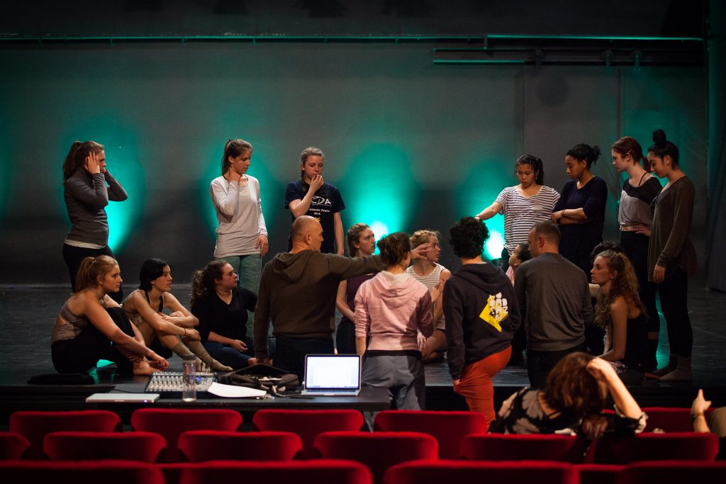 Pictured: Iztok Kovač and EnKnapGroup working with ADA dance students