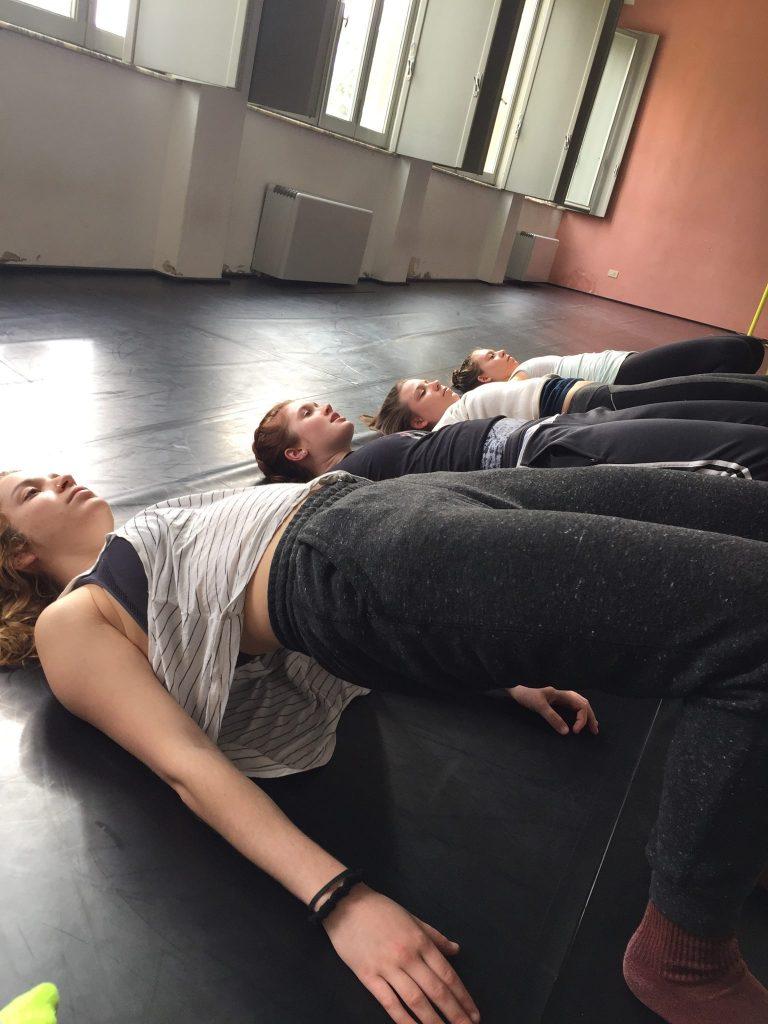Dancers get in shape Pictured from left: Eliza Malecki, Megan Hopkins, Michayla Kelly, Caroline Burden