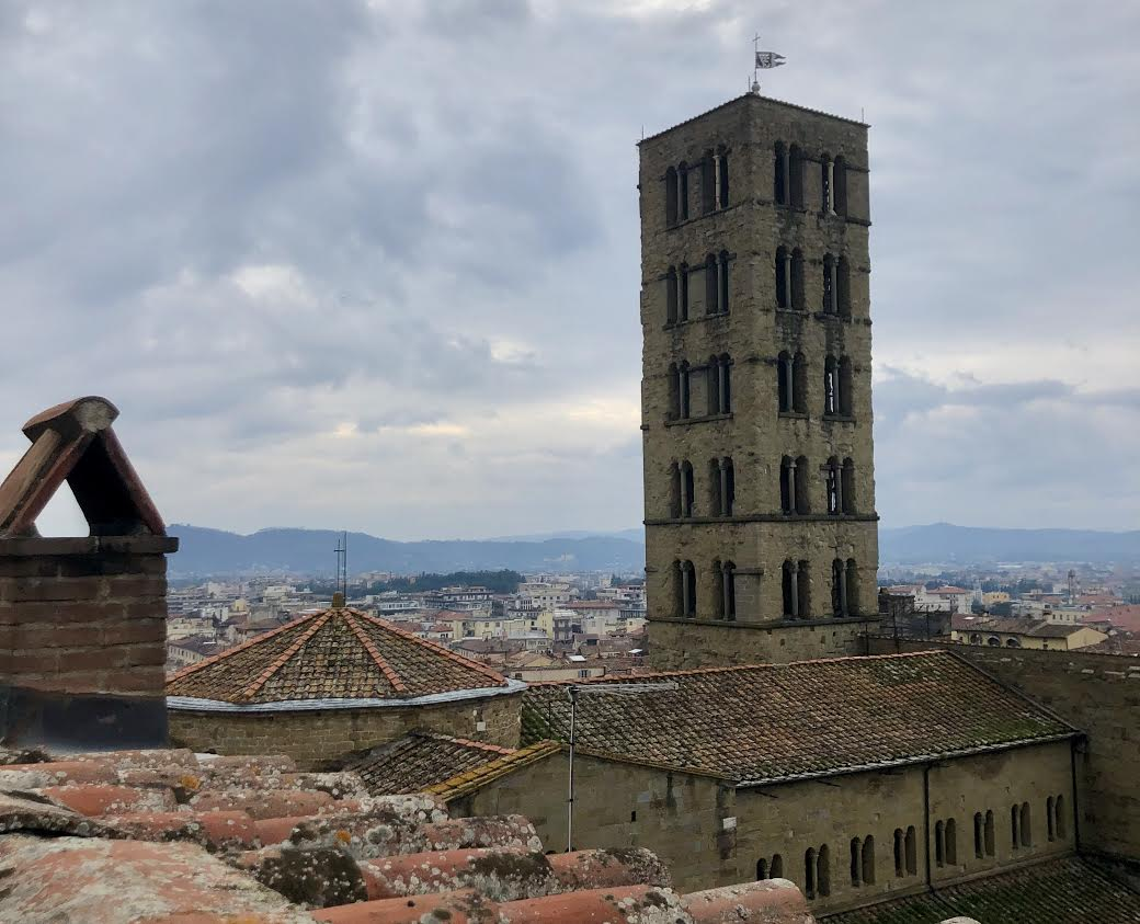 The new perspective that I got of Arezzo when I went up in the clock tower in Piazza Grande fro the first time